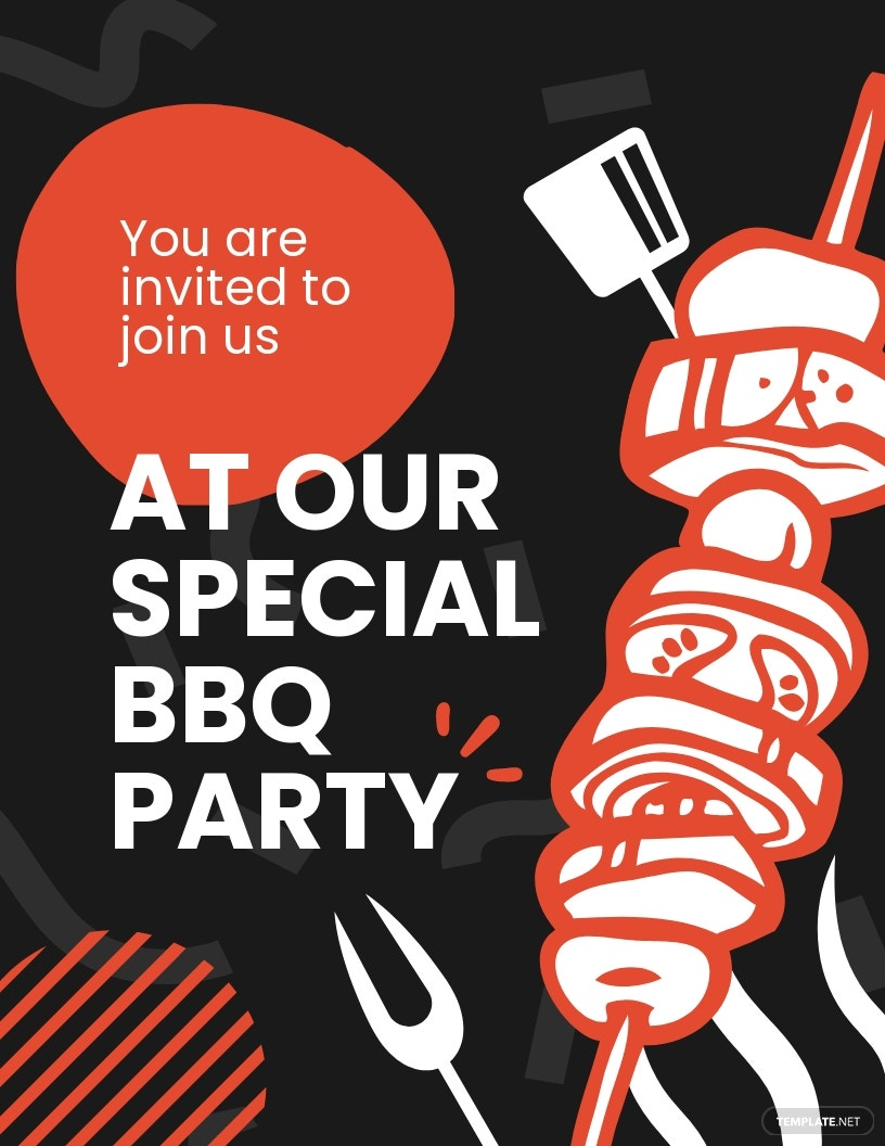 Bbq Party Invitation Flyer Template.jpe