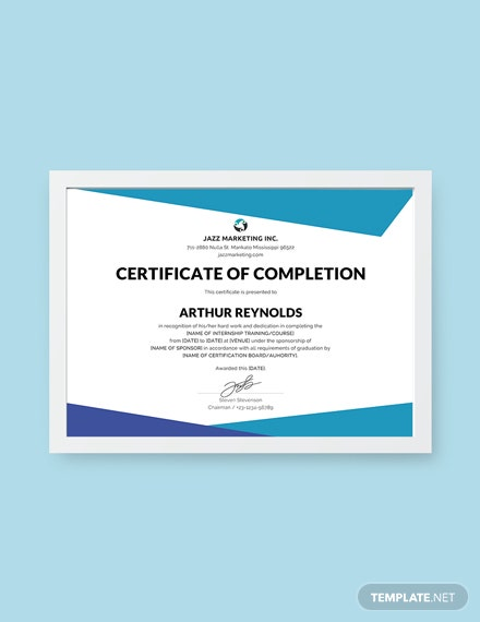 Free Course Completion Certificate Template Download 378