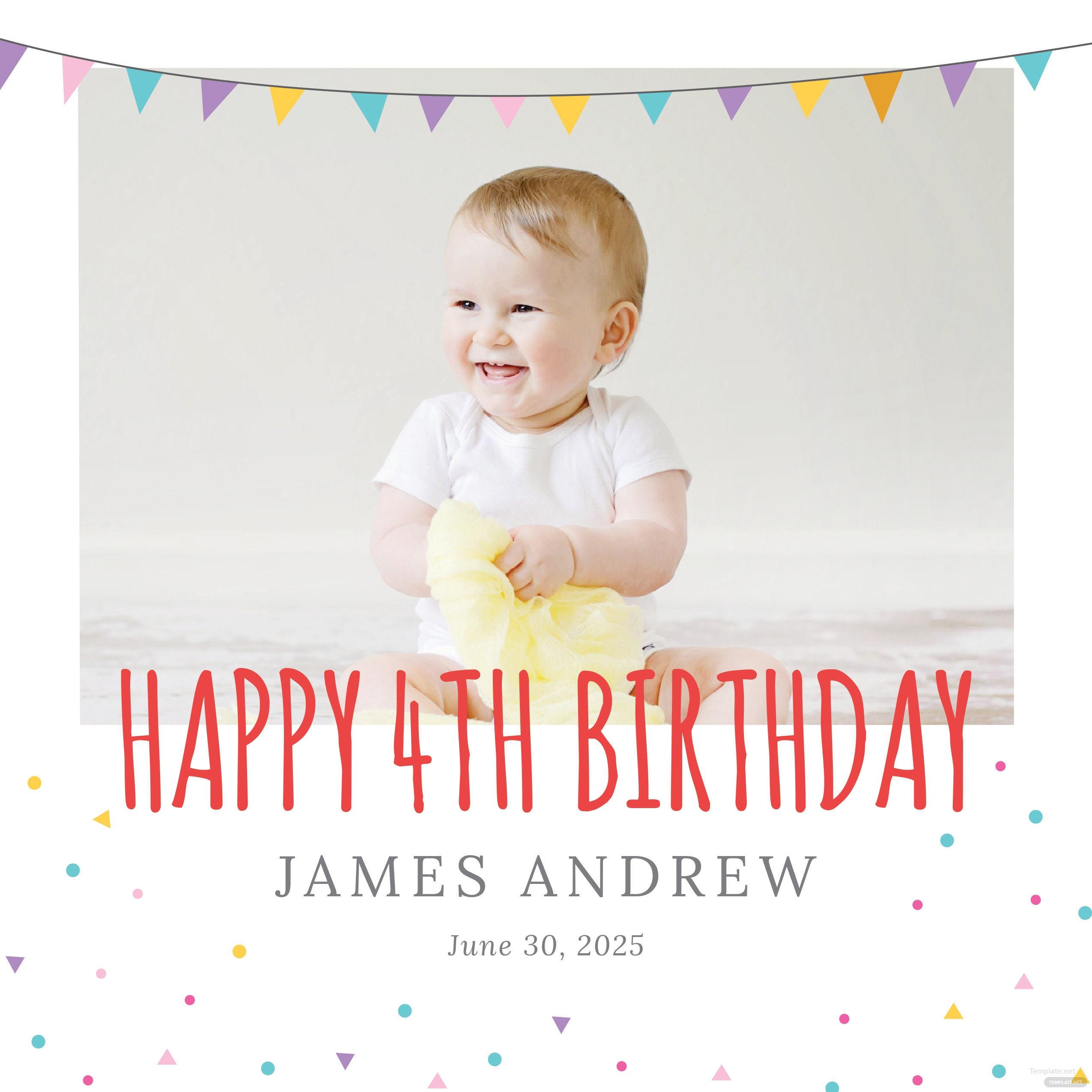 Free Birthday Photo Book Cover Template in Adobe Photoshop ...