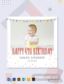 Free Birthday Photo Book Cover Template