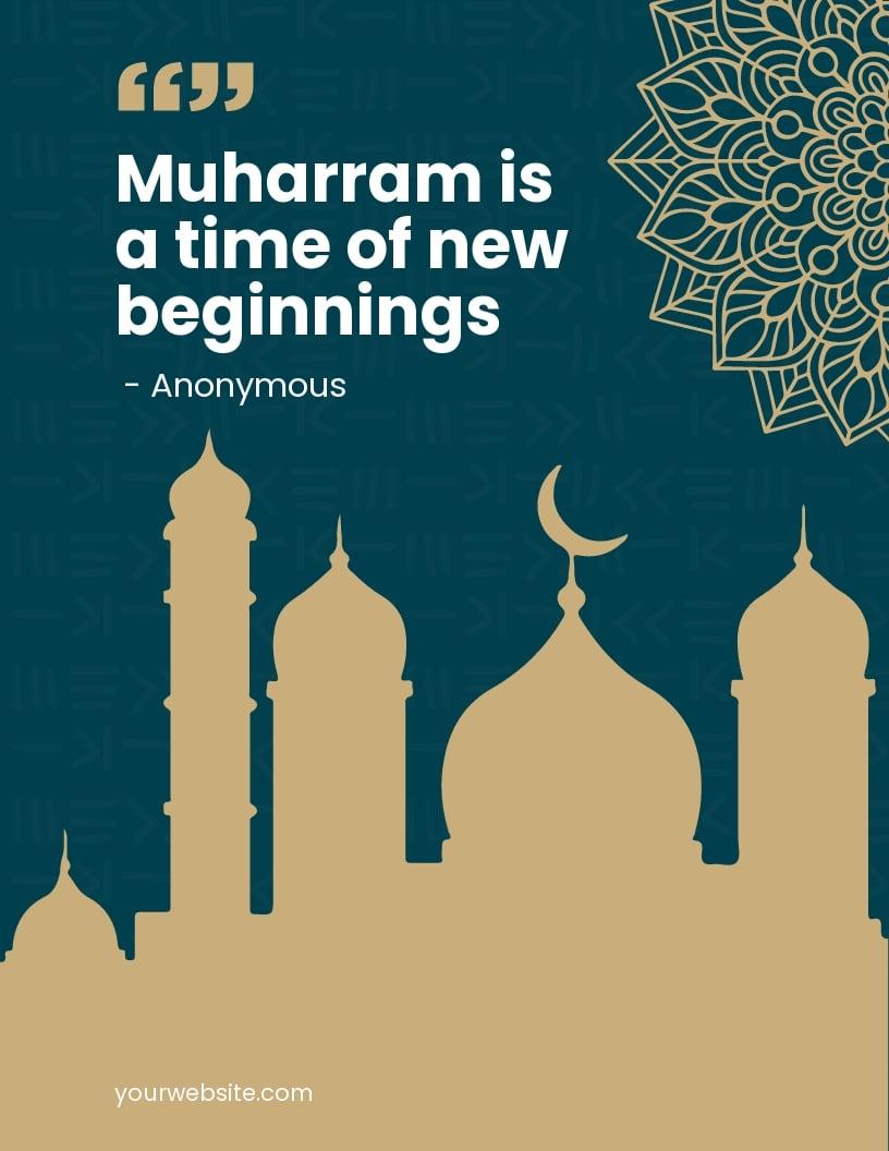 Muharram Quote Flyer Template.jpe
