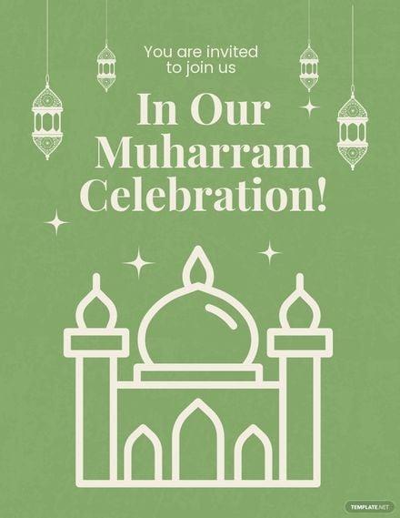 Muharram Celebration Flyer Template.jpe