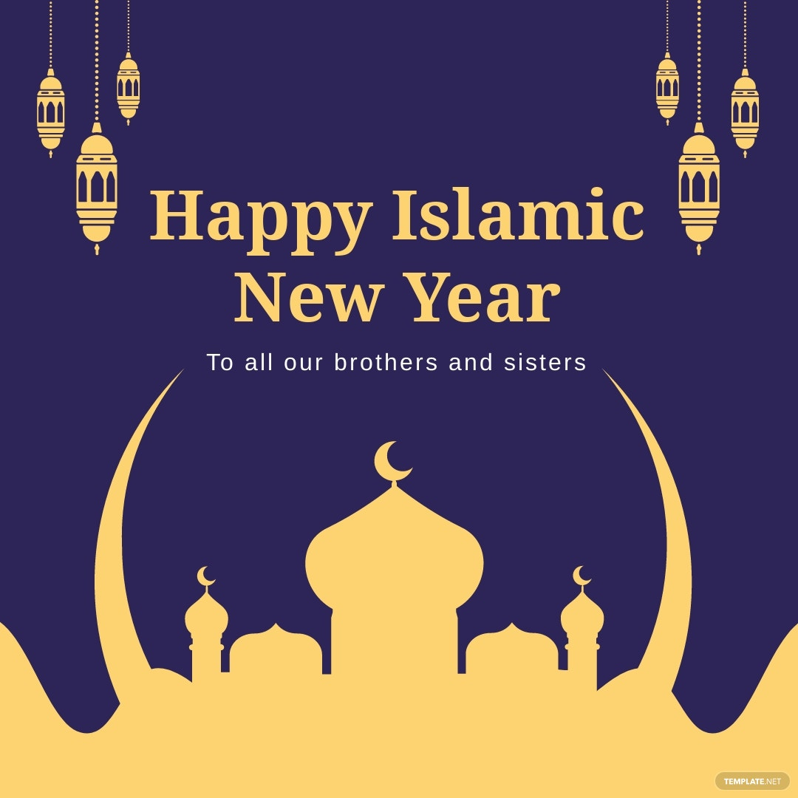 Islamic New Year Instagram Post Template.jpe