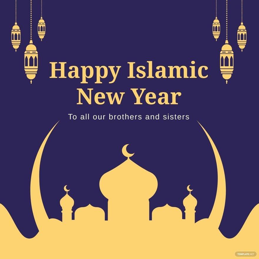 Islamic New Year Linkedin Post Template.jpe