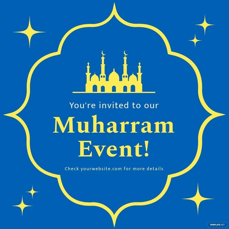 Muharram Invitation Linkedin Post Template.jpe