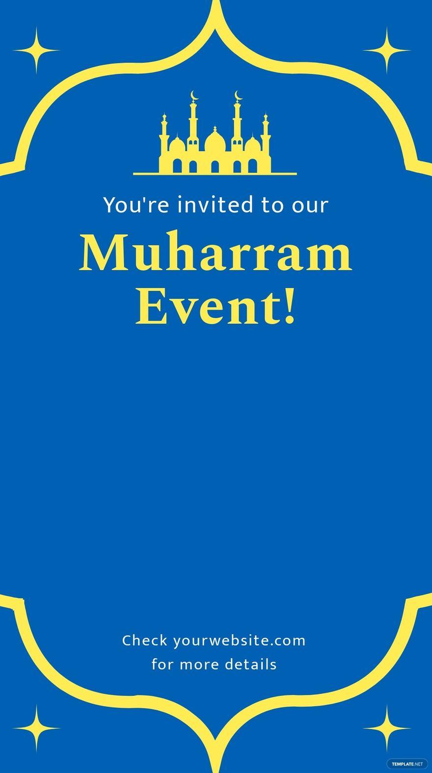 Muharram Invitation Snapchat Geofilter Template.jpe