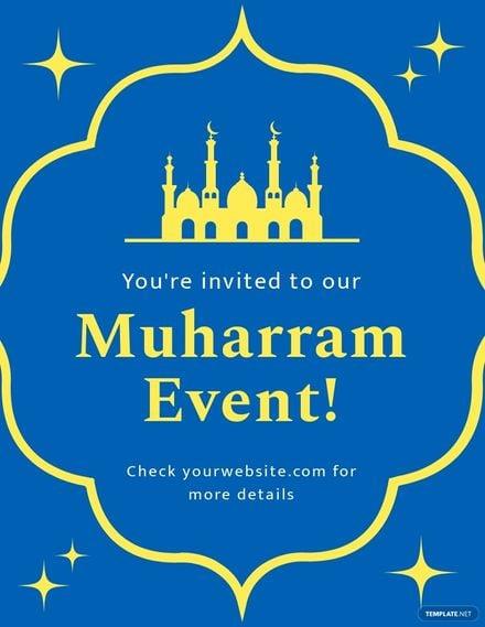 Muharram Invitation Flyer Template.jpe