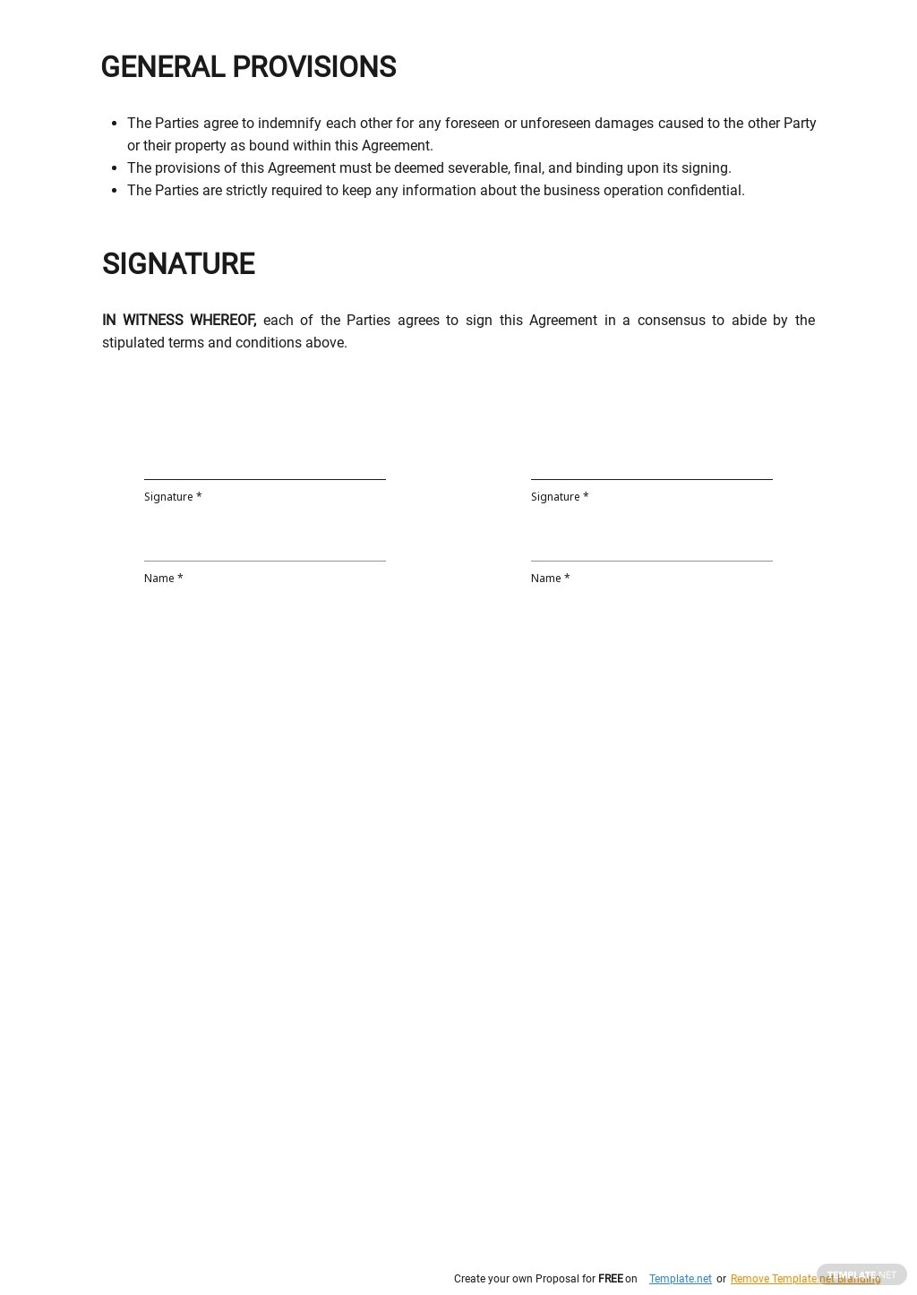 Free Cleaning Service Level Agreement Template 2.jpe