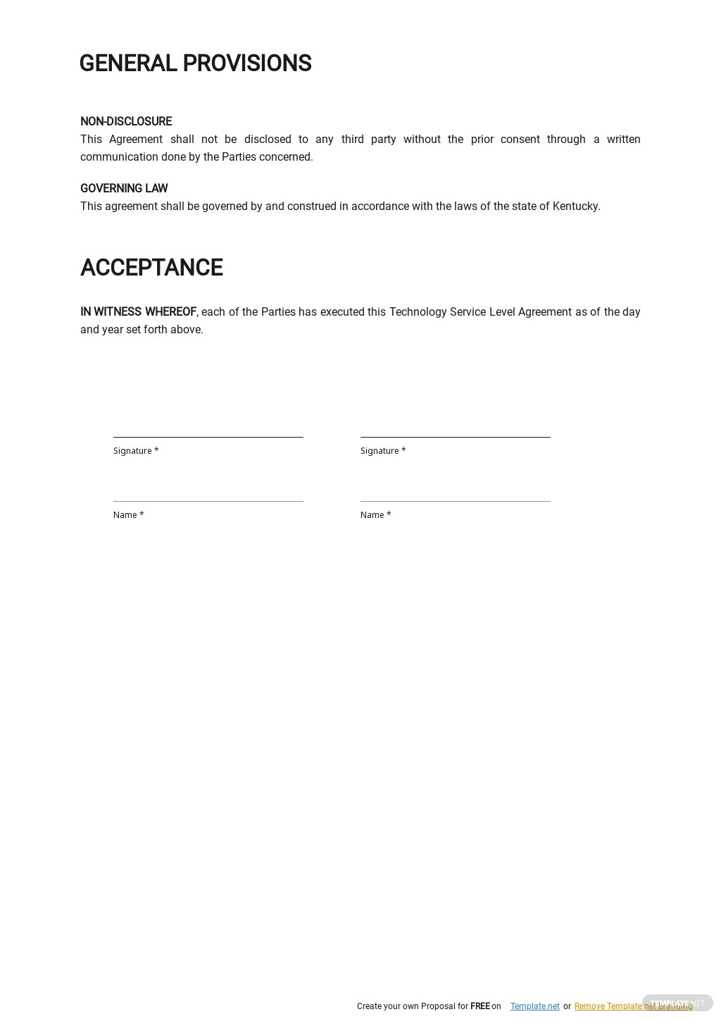 Free Technology Service Level Agreement Template 2.jpe
