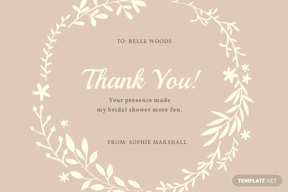 Rustic Bridal Shower Thank You Card Template.jpe