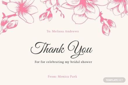 Sample Bridal Shower Thank You Card Template.jpe