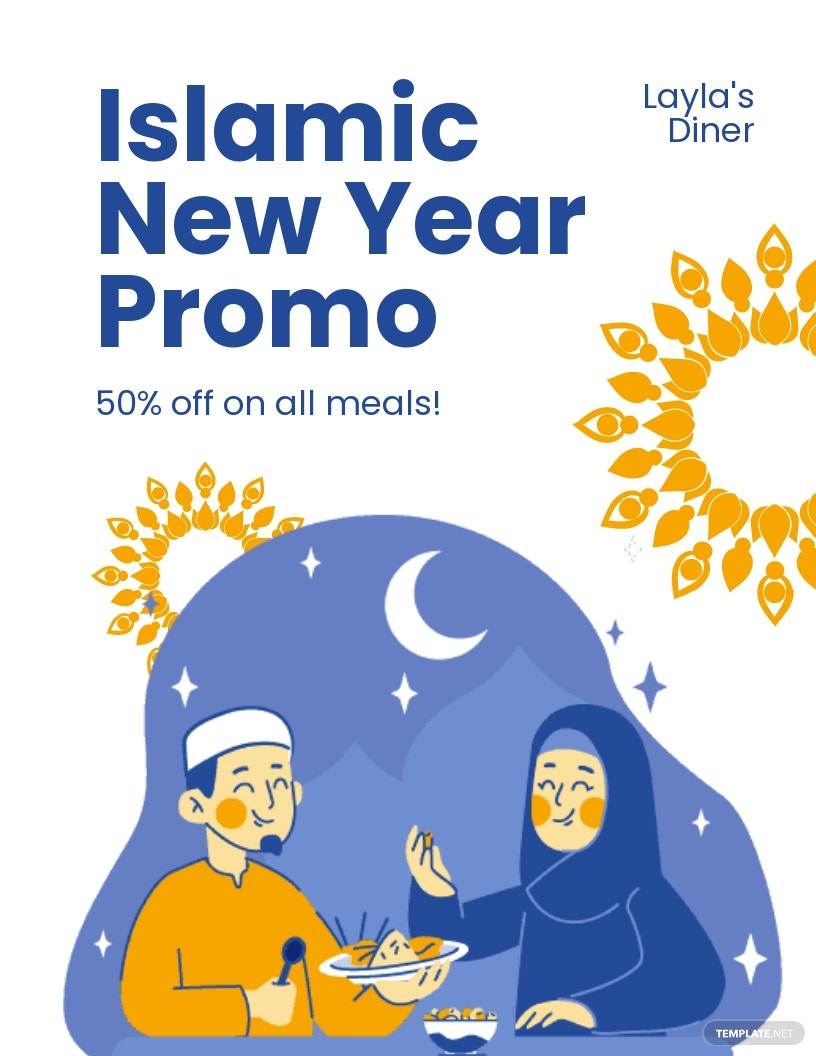Islamic New Year Promotional Flyer Template.jpe