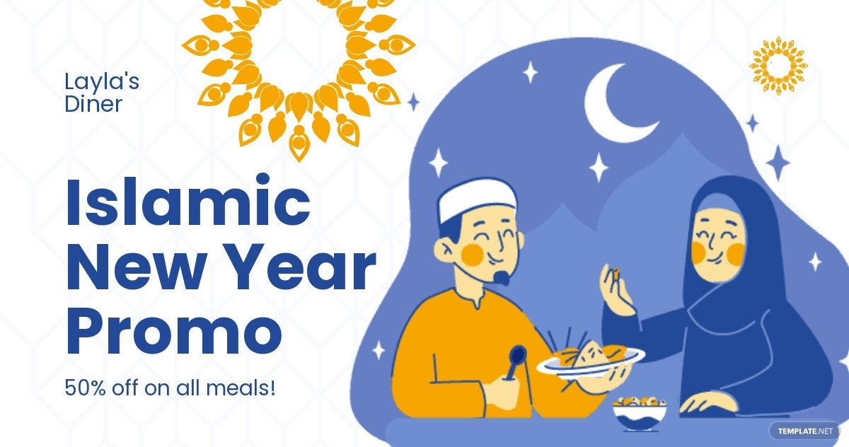 Islamic New Year Promotional Facebook Post Template.jpe