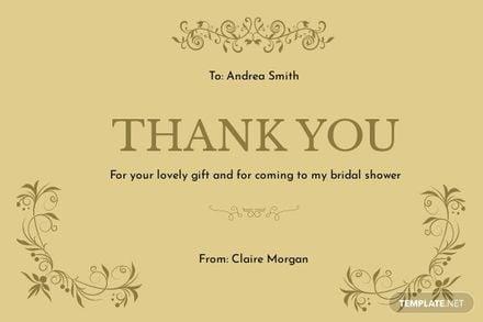 Vintage Bridal Shower Thank You Card Template.jpe