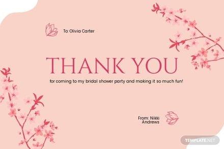Girl Friends Bridal Shower Thank You Card.jpe
