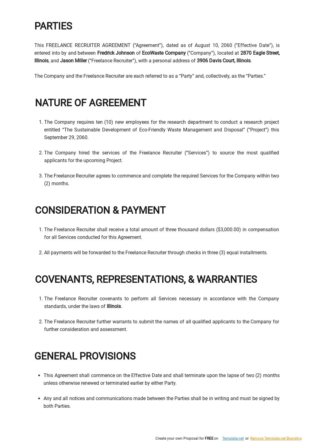 Freelance Recruiter Agreement Template  1.jpe