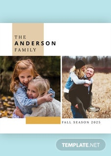 Free Family Photo Book Cover Template