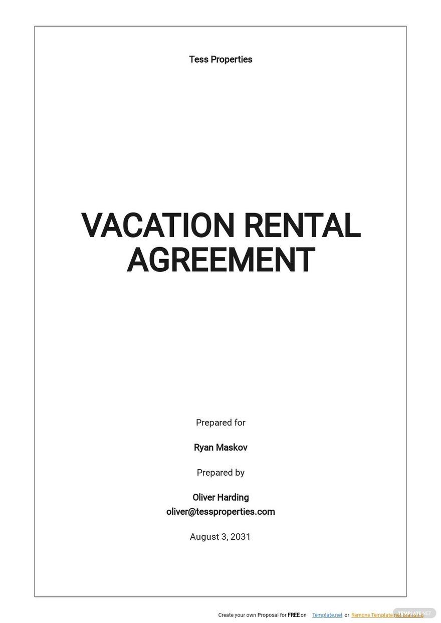 Simple Vacation Rental Agreement Template.jpe