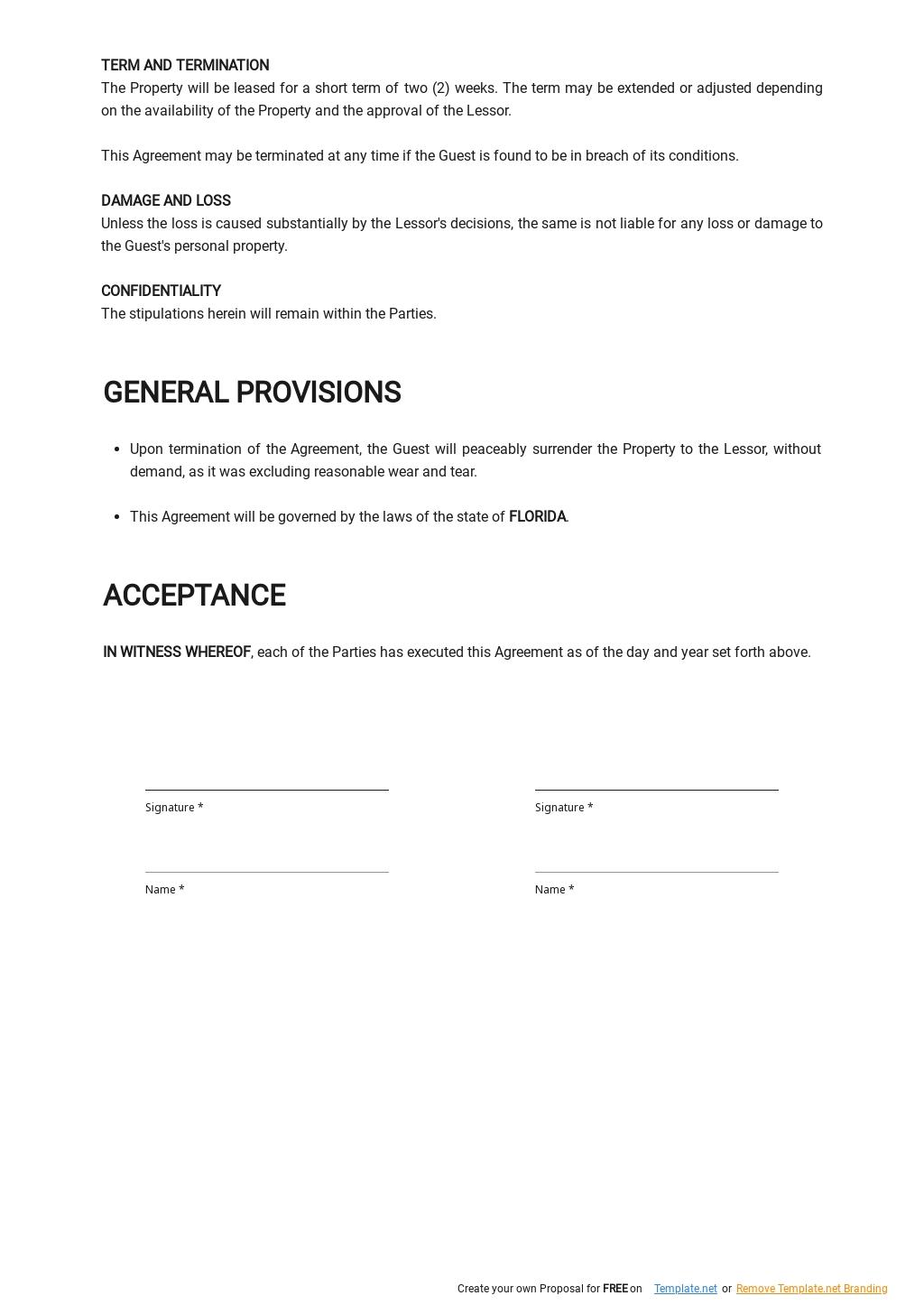 Free Short Term Vacation Rental Agreement Template 2.jpe