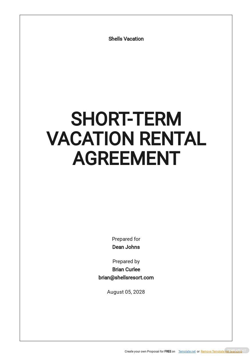 Free Short Term Vacation Rental Agreement Template.jpe