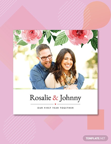 Free Floral Photo Book Cover Template