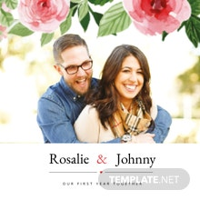 Floral Photo Book Cover Template