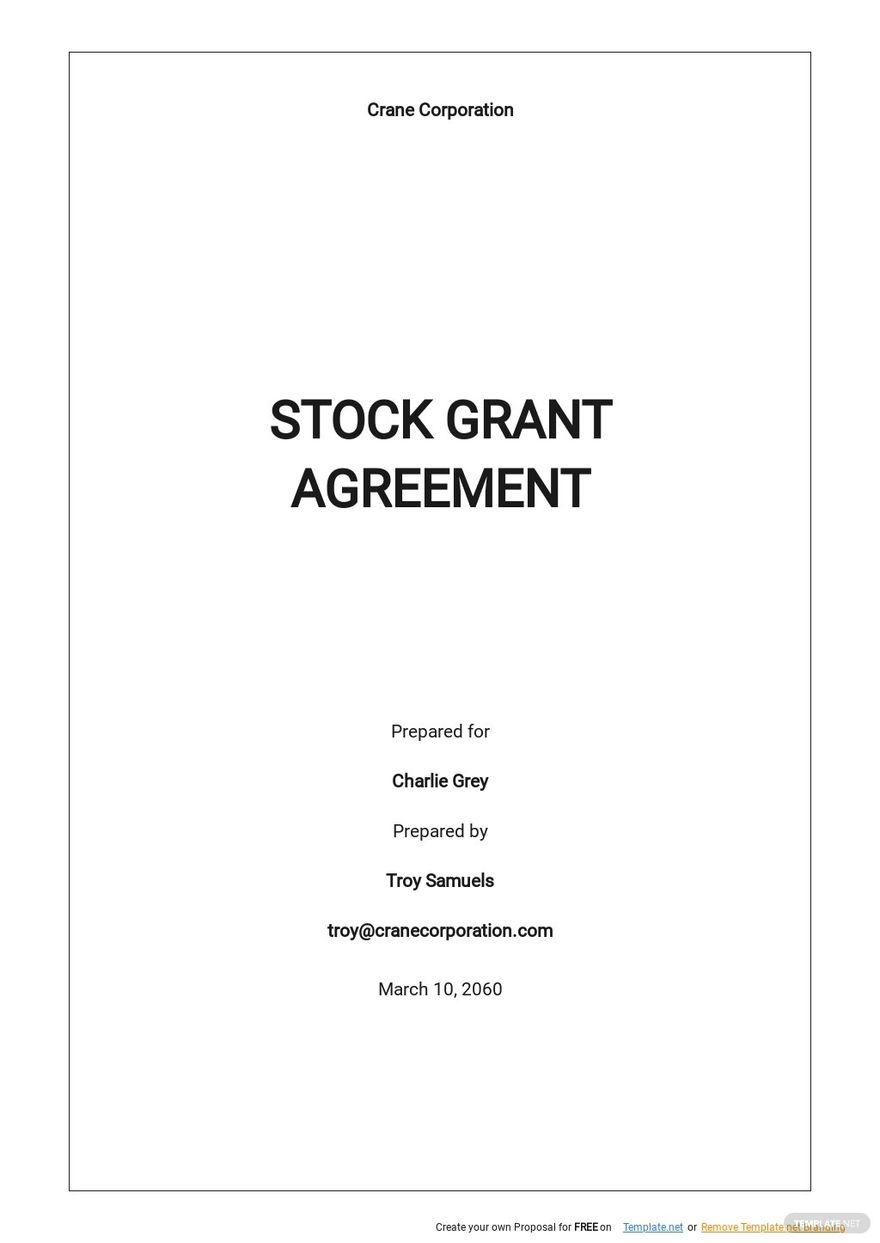 Stock Grant Agreement Template .jpe