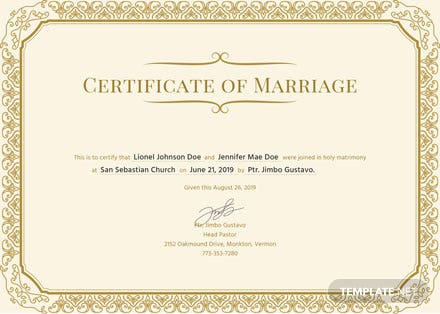 Free Marriage Certificate Template: Download 200+ Certificates in ...