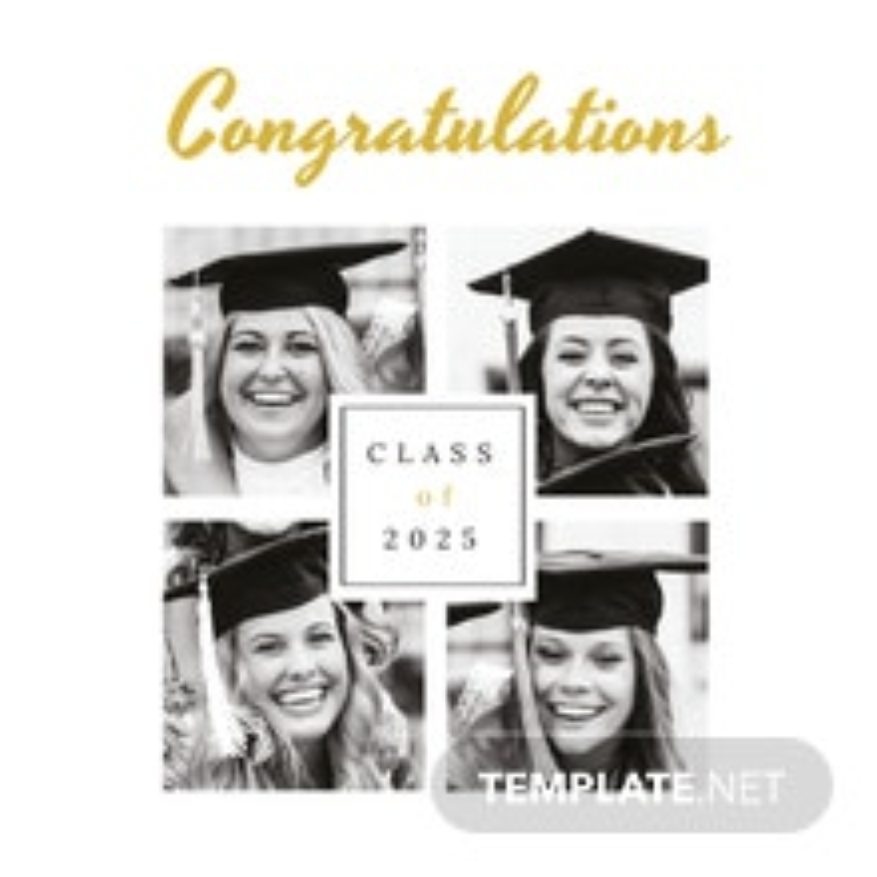 Graduation Photo Book Cover Template