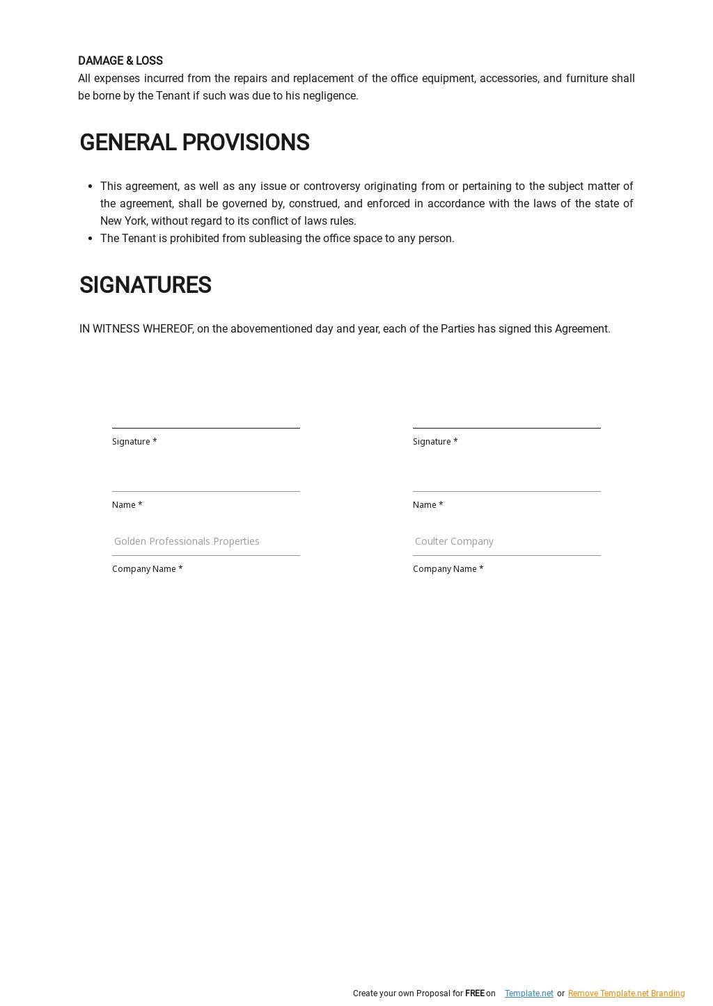 Free Office Rental Agreement Template  2.jpe