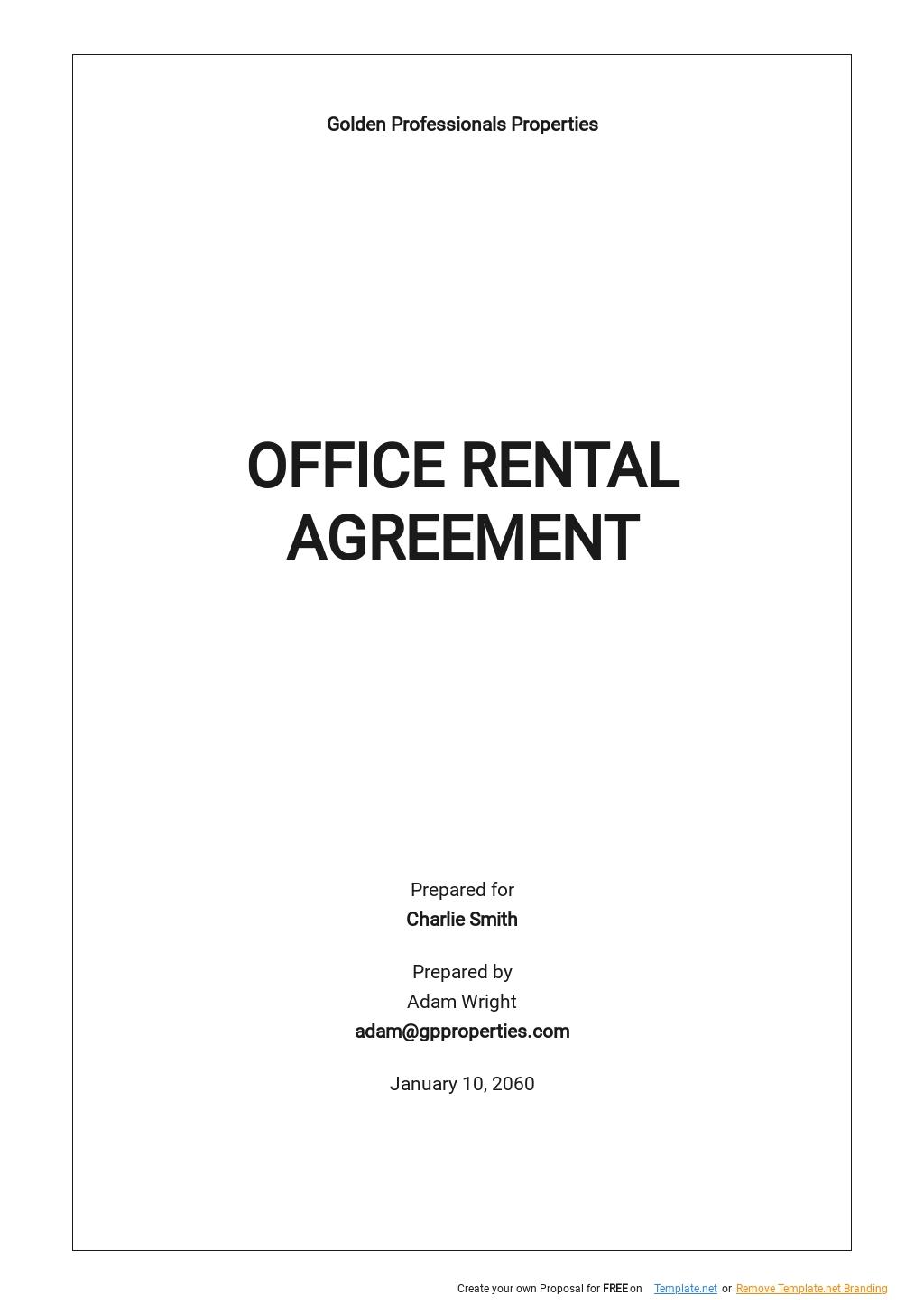 Free Office Rental Agreement Template .jpe