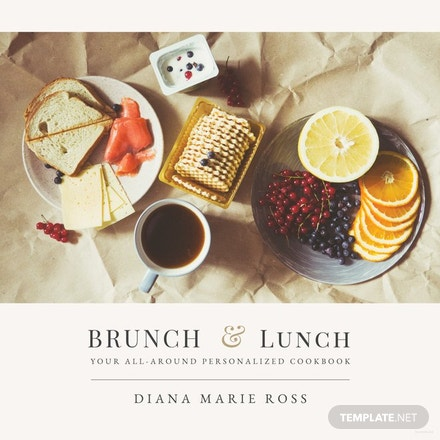 free photo cookbook cover template in adobe photoshop illustrator