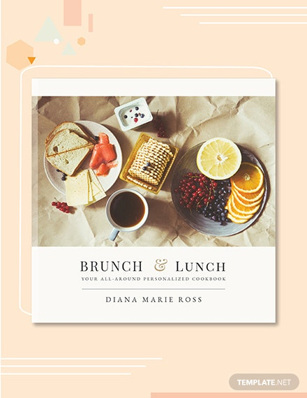 Free Photo CookBook Cover Template