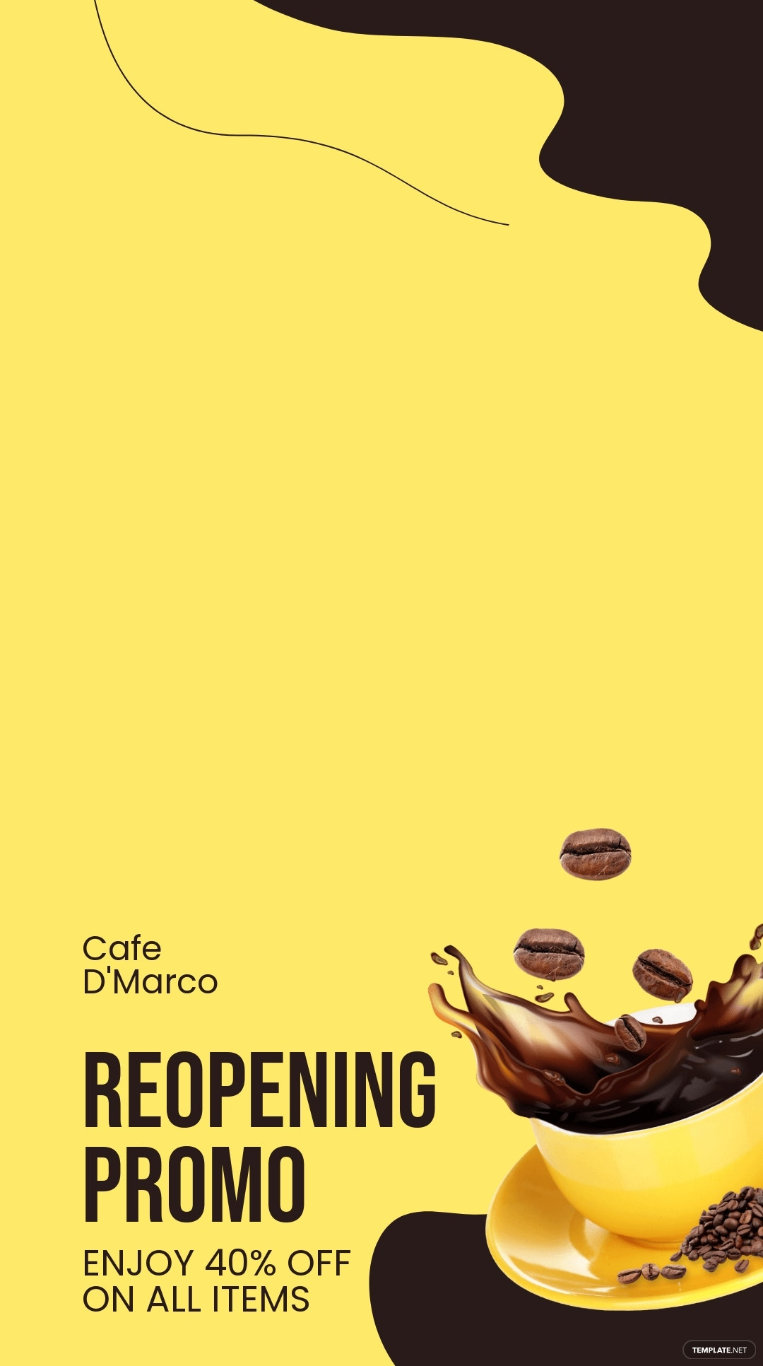 Cafe Reopening Snapchat Geofilter Template.jpe