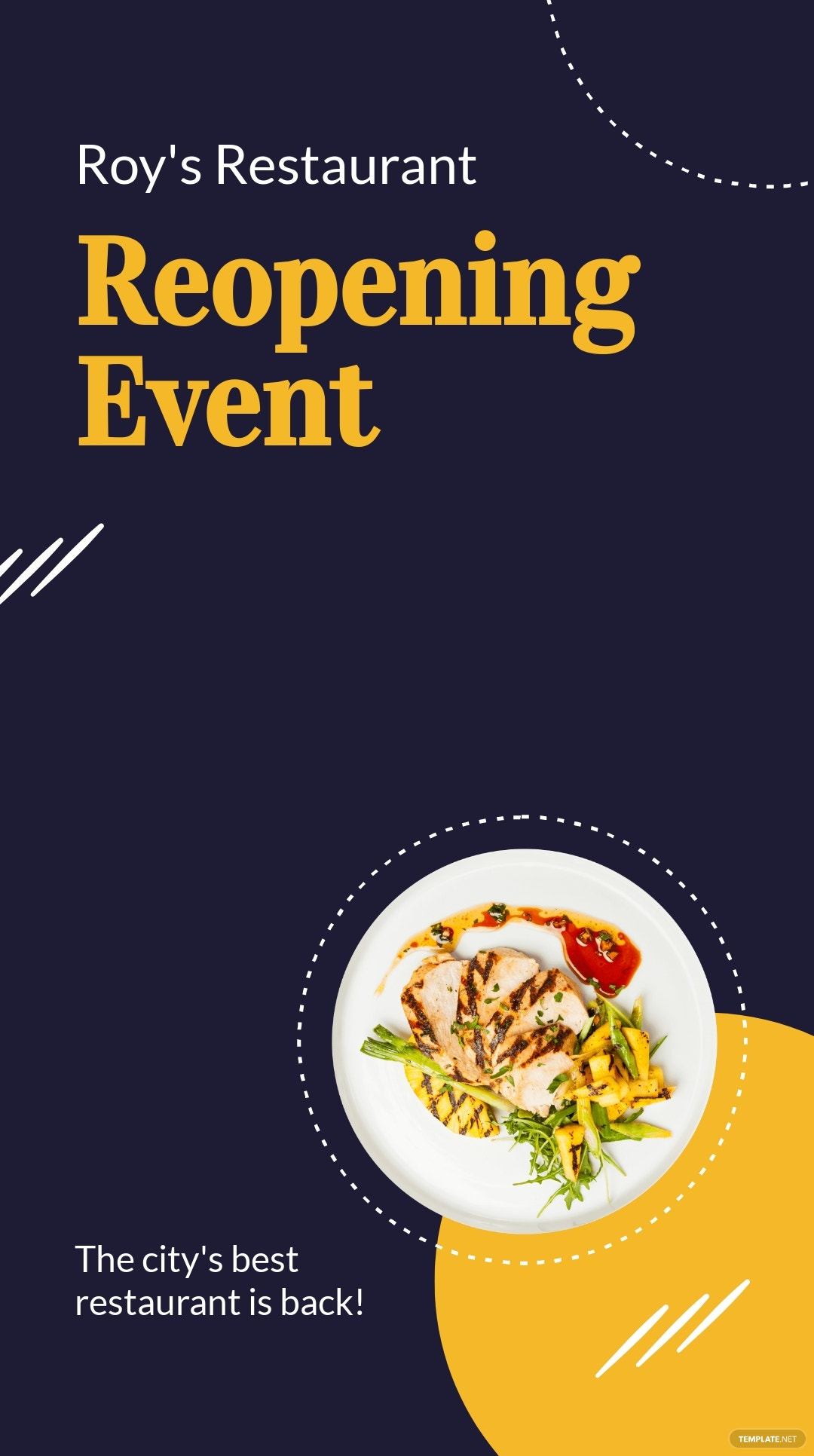 Restaurant Reopening Snapchat Geofilter Template.jpe