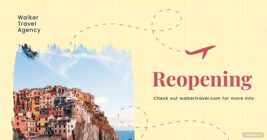 Travel Agency Reopening Facebook Post Template.jpe