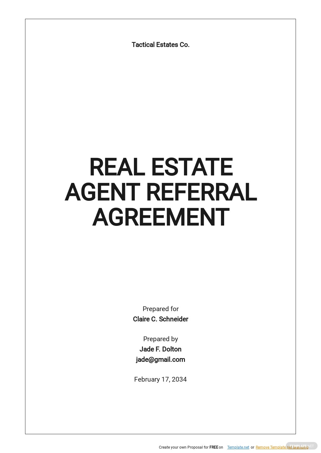 Real Estate Agent Referral Agreement Template.jpe