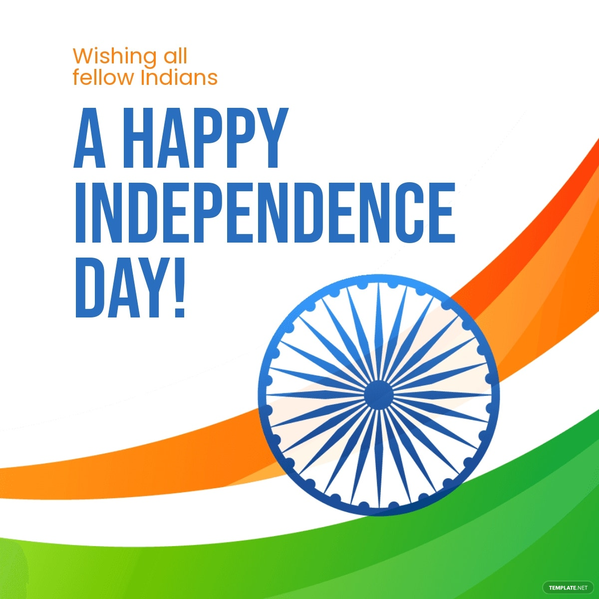 Happy Indian Independence Day Linkedin Post Template.jpe