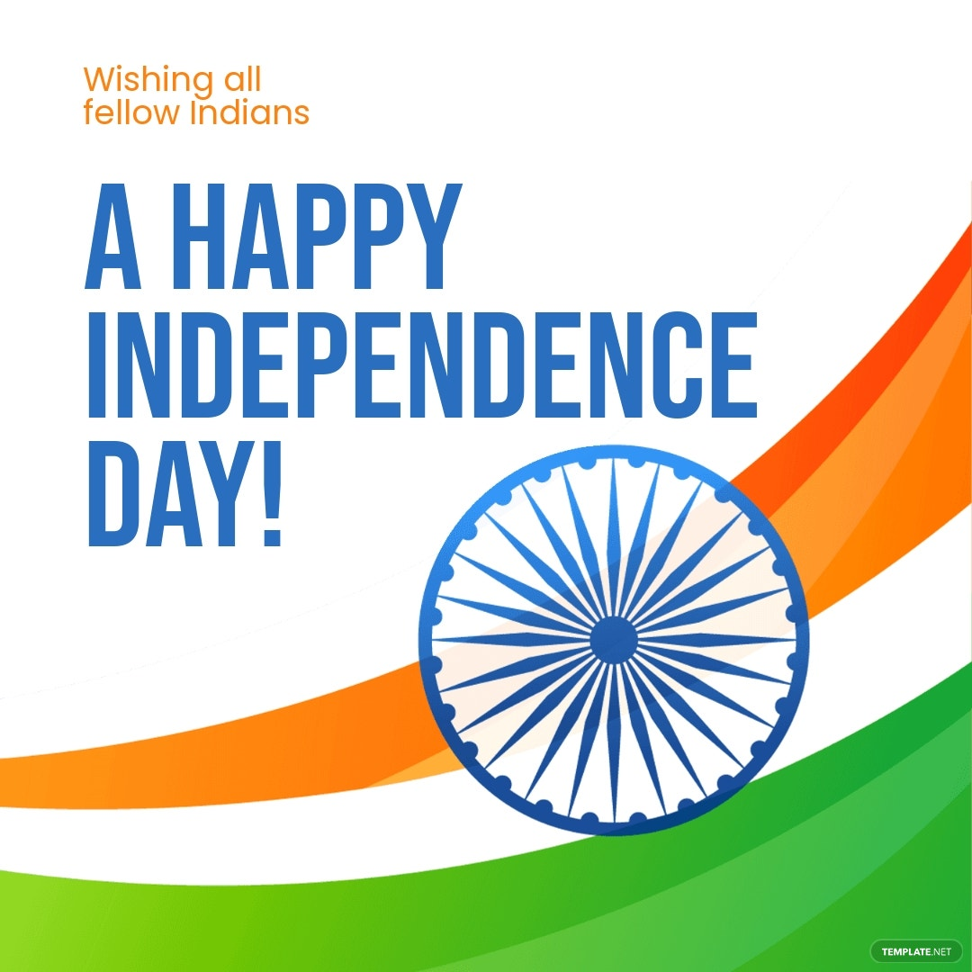 Happy Indian Independence Day Instagram Post Template.jpe