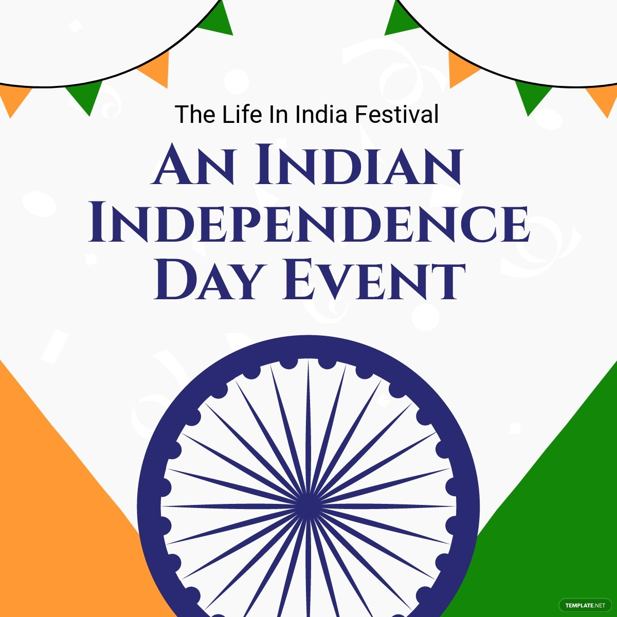 Indian Independence Day Event Linkedin Post Template.jpe