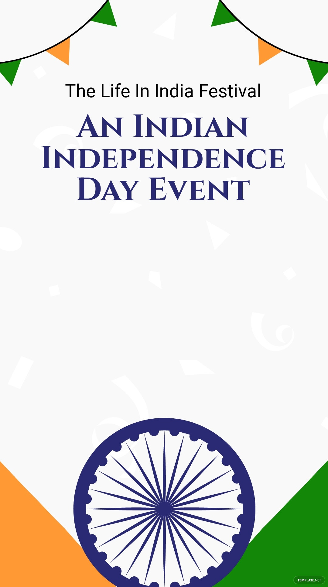 Indian Independence Day Event Snapchat Geofilter Template.jpe