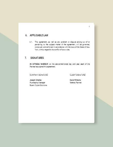 Referral Partner Agreement Template