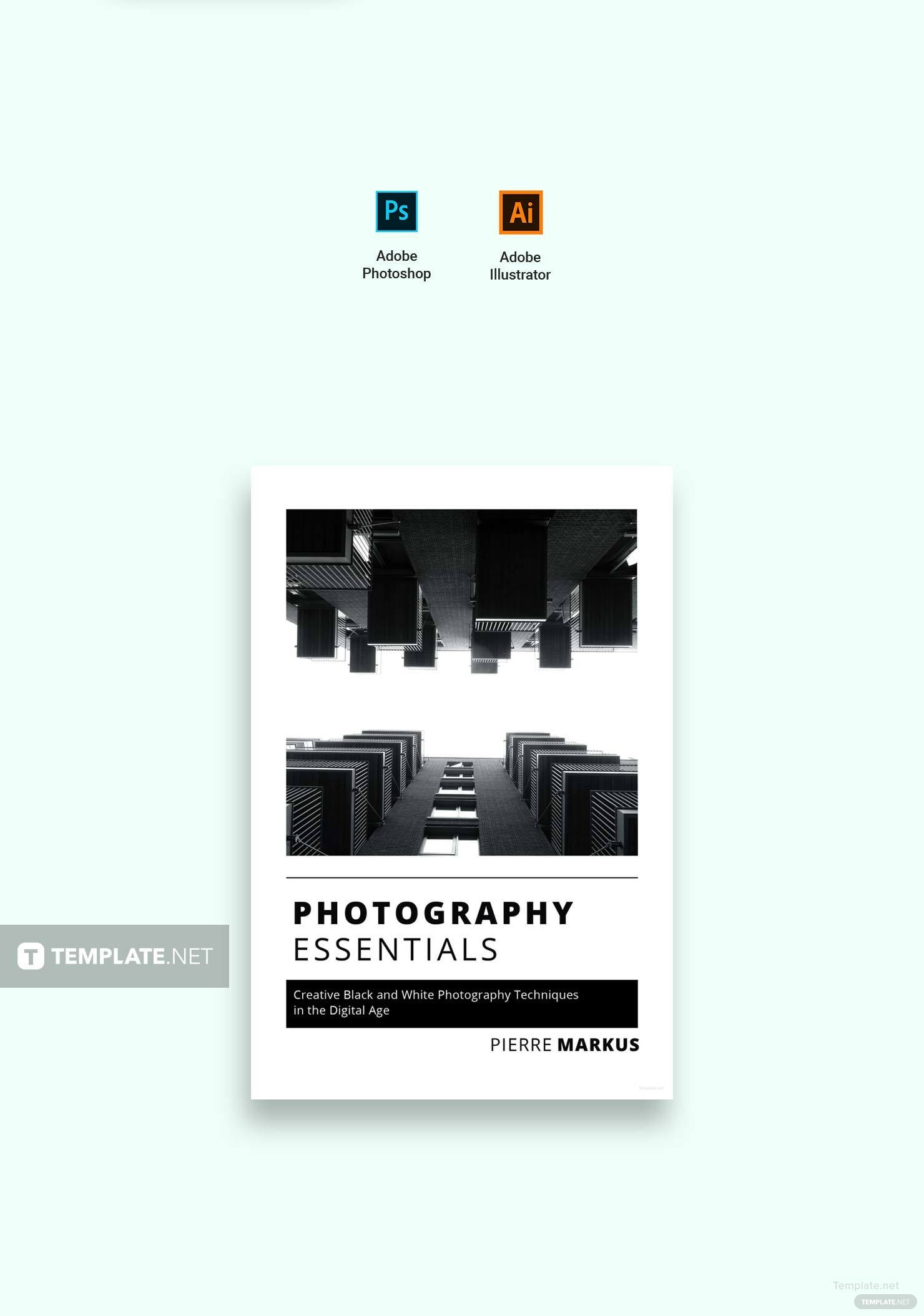 Free Photo Book Cover Template in Adobe Photoshop, Illustrator ...