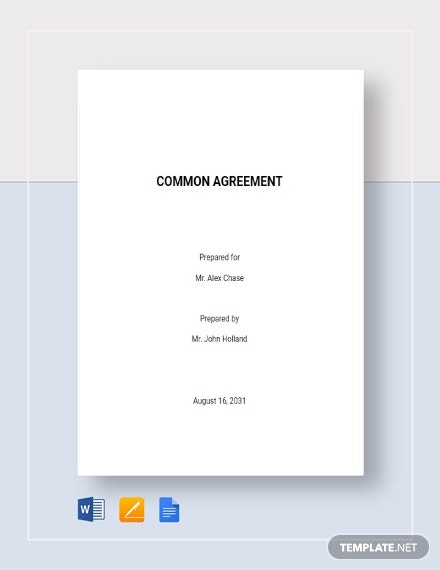 Common Agreement Template