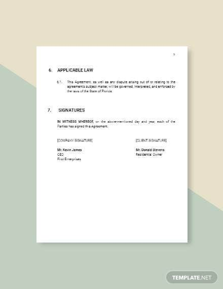 Common Wall Agreement Template