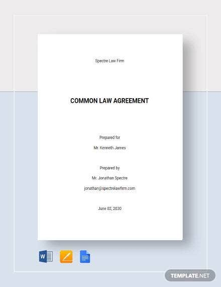 Common Law Agreement Template