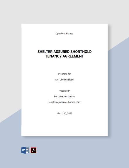 Shelter Assured Shorthold Tenancy Agreement Template