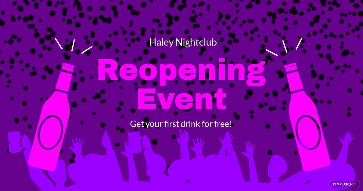 Reopening Event Ad Facebook Post Template.jpe