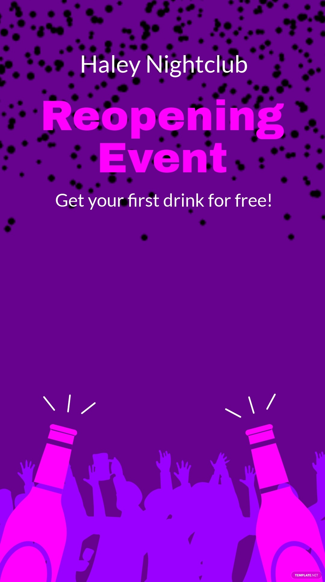 Reopening Event Ad Snapchat Geofilter Template.jpe