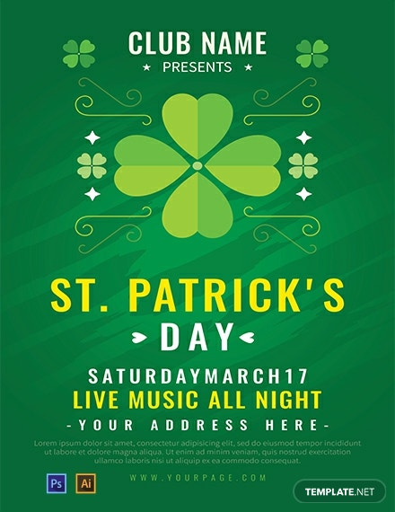 Free St Patricks Day Poster Template